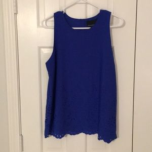 Gorgeous royal blue sleeveless blouse.